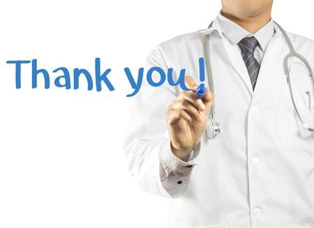 uniforme medico: Escritura doctor Thank you!