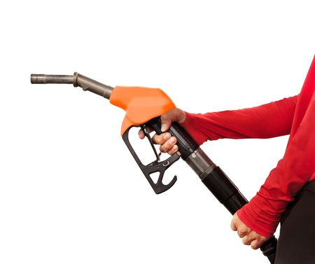 Gas Station Worker and service on white background Stock Photo - 17381249