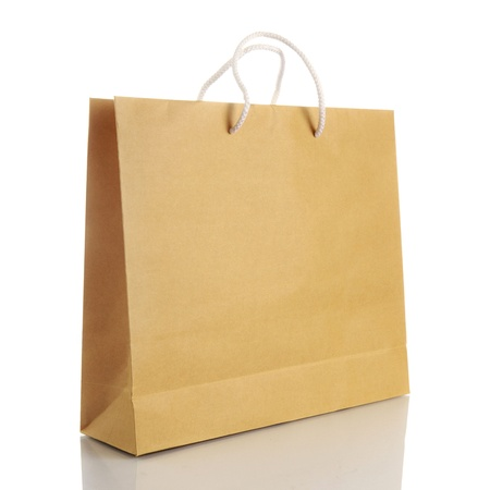 Paper shopping bag on white background Stock Photo - 17578549