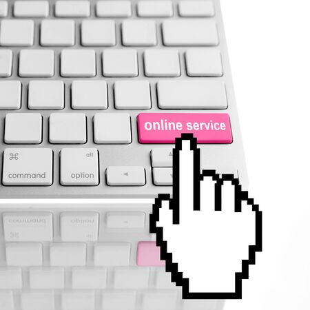 Online service text on a computer keyboard Stock Photo - 17619782