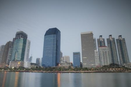 Bangkok city at twilight  Stock Photo - 17728062