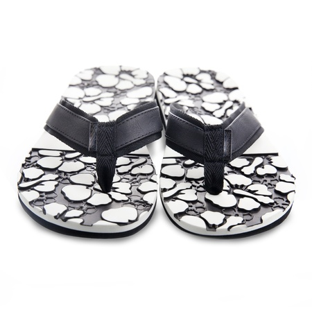 Black and white slippers photo