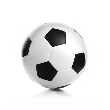 soccer background: Soccer ball on a white background Stock Photo