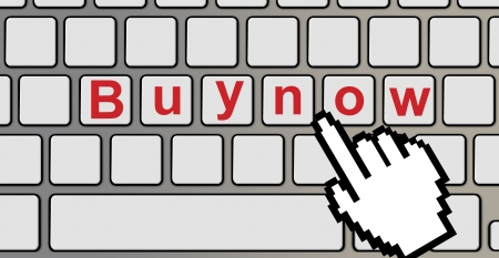 Buy now text on a computer keyboard  photo