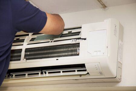 Repair technicians Air conditioner Stock Photo - 18236104