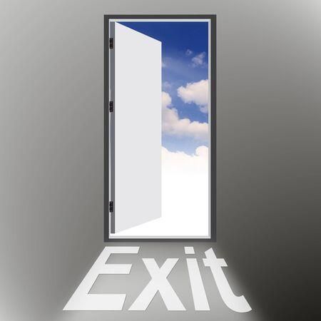 Exit door photo