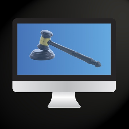 Judge gavel, Internet Auction photo