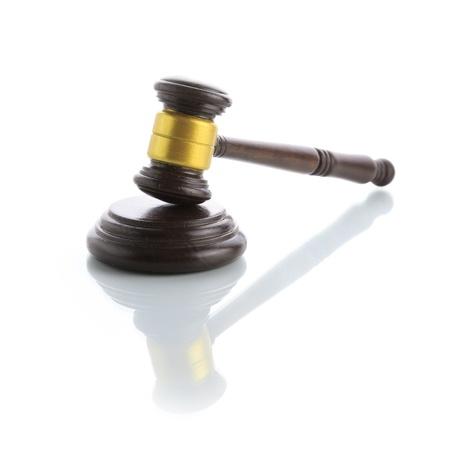 Judge gavel isolated on white background Stock Photo - 18921675
