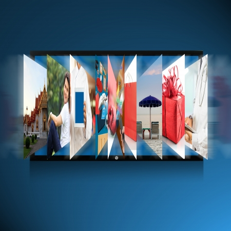 Smart 3D TV screen photo