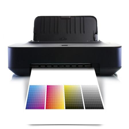 CMYK printer photo