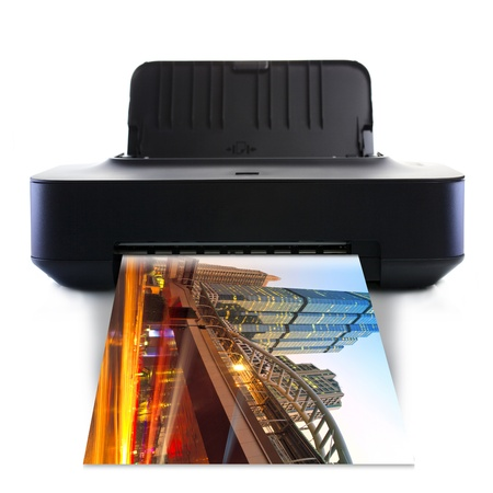 Printer and picture with Color in the city photo
