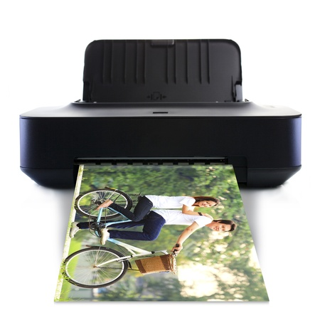 Printer and picture with Young couple photo