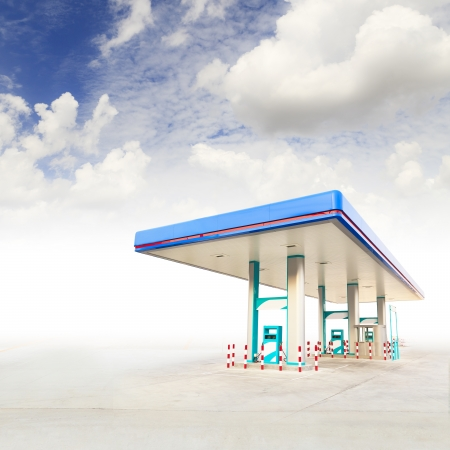 Gas Station and blue sky photo