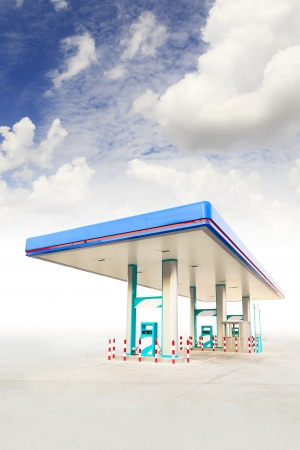 Gas Station and blue sky Stock Photo - 19185621