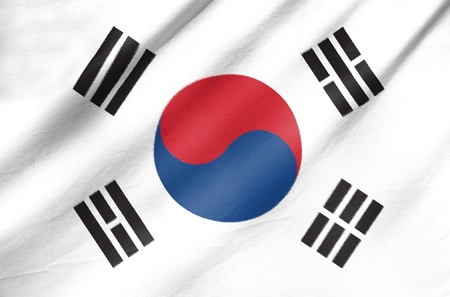 Fabric Flag of South Korea photo
