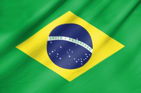 Fabric Flag of Brazil  photo