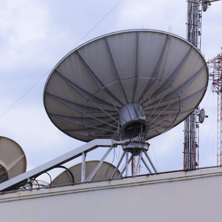 Satellite dish space technology receiver  photo