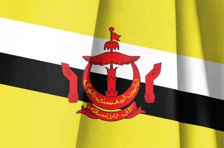 brunei darussalam: Fabric Flag of Brunei Darussalam