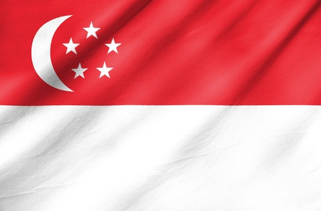 singaporean flag: Fabric Flag of Singapore