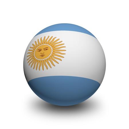 bandera argentina: Ball 3D con la bandera de Argentina