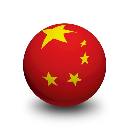 3D Ball with Flag of China photo