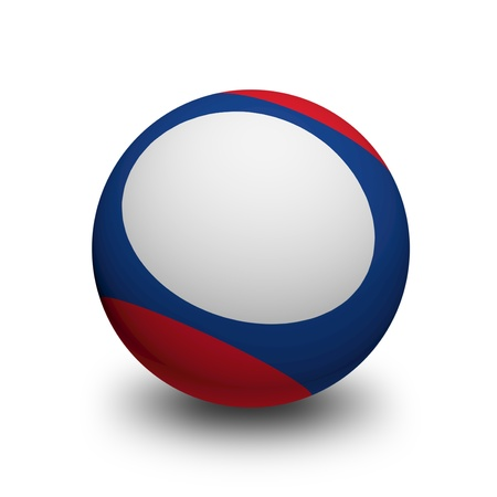 3D Ball with Flag of Laos photo