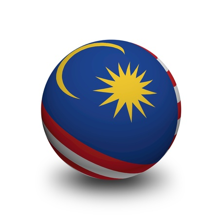 3D Ball with Flag of Malaysia Stock Photo - 20057289