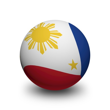 philippine: 3D Ball with Flag of Philippines