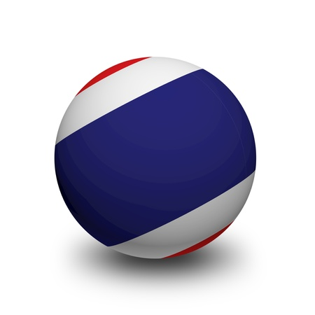 3D Ball with Flag of Thailand photo