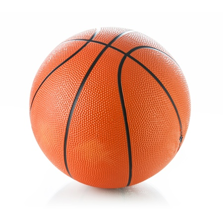 Basketball ball on white background Stock Photo - 20467001