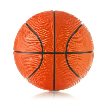 basket ball: Basketball ball on white background