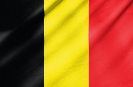 Fabric Flag of Belgium 版權商用圖片