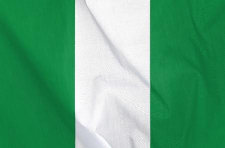 Fabric Flag of Nigeria photo