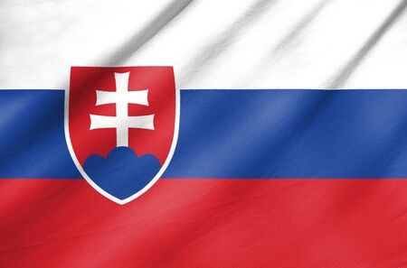 Fabric Flag of Slovakia photo
