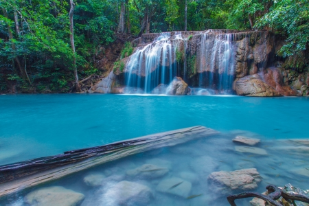 Erawan Waterfall, Kanchanaburi, Thailand  photo