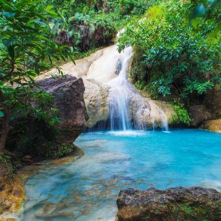 kanchanaburi: Deep forest Erawan Waterfall, Kanchanaburi, Thailand
