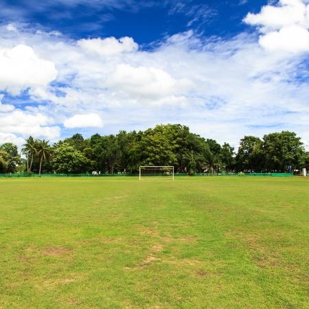 field  soccer: Campo de f?l Foto de archivo