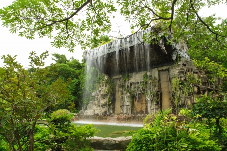 Waterfall in the garden Stock Photo - 21021262