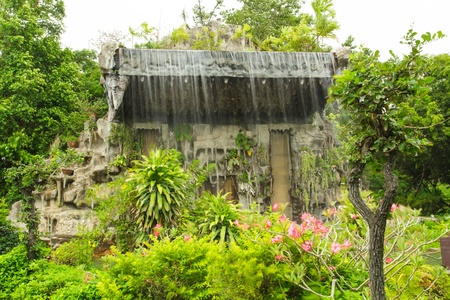 Waterfall in the garden Stock Photo - 21021269