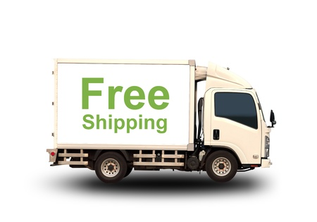 Small truck with Free shipping Stock Photo - 21021352