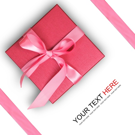 background box: Red gift box on white background Stock Photo