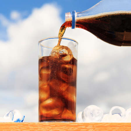 Cola and ice photo