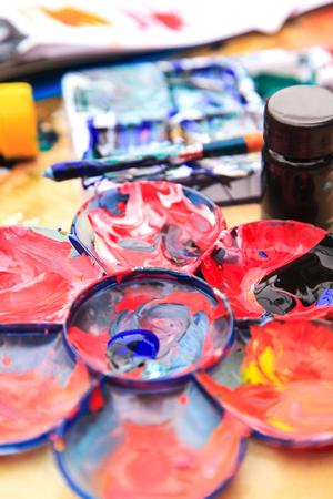 Paintbrush, color and color palette photo