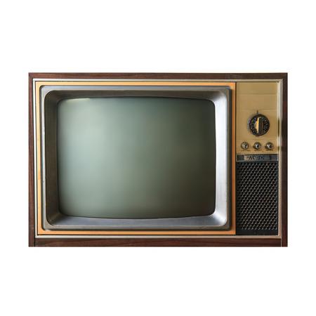 ver television: Tv vintage Foto de archivo
