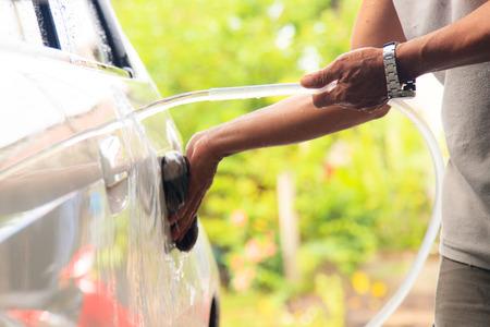Wash a car photo