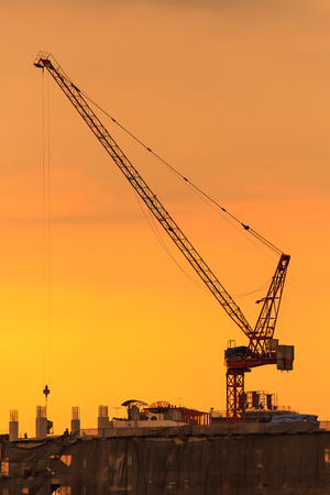 commercial real estate: Cranes at a construction site