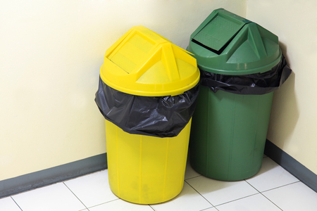 Large green and yellow trash photo