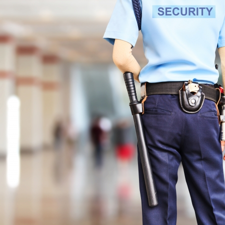 officers: Security guard Stock Photo