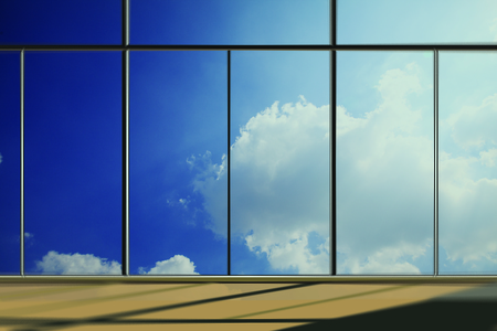 Windows in modern office building photo