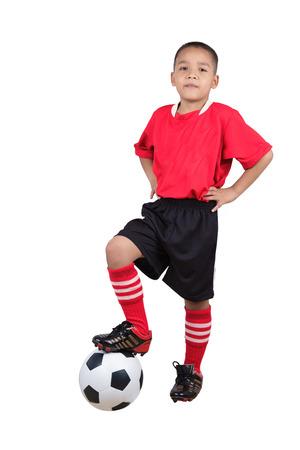 Joueur de football de l'enfant Banque d'images - 24063191